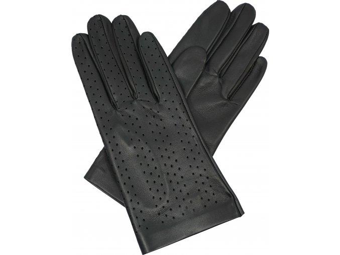 dámské rukavice bezpodšívkové černé výsek