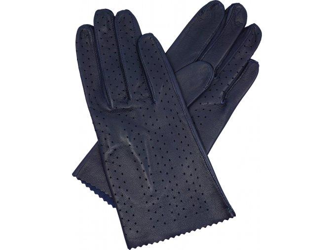 dámské rukavice bezpodšívkové modrá výsek