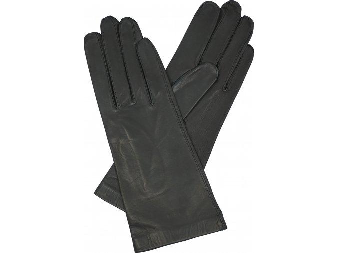 dámské rukavice bezpodšívkové černé hladké