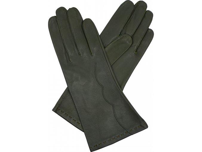 dámské kožené rukavice bezpodšívkové výšivka (2)