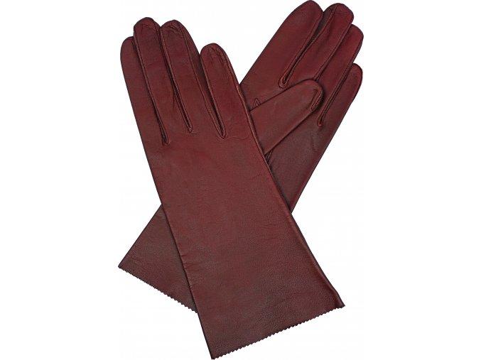 dámské kožené rukavice bezpodšívkové hladké4