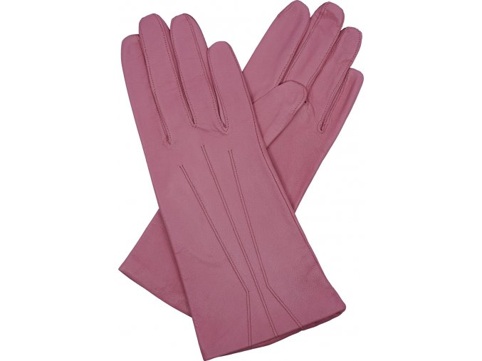 dámské kožené rukavice podšívka UH růžová