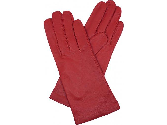 dámské kožené rukavice podšívka UH červená