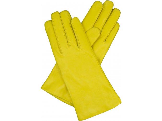 dámské rukavice s podšívkou vlna žluté
