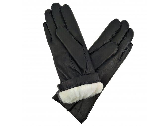 Dámské rukavice s králičí podšívkou