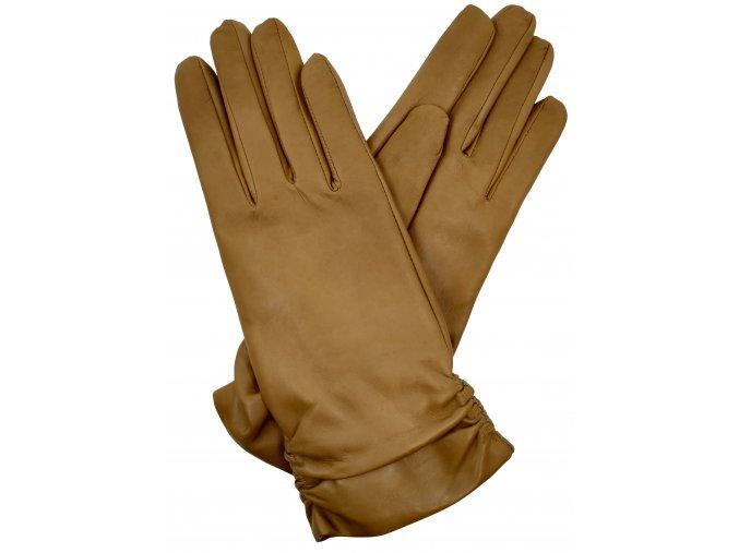 Dámské rukavice s podšívkou camel