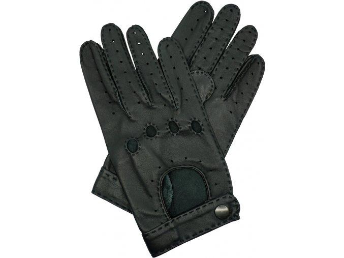 pánské kožené rukavice řidičské černé ruční šití