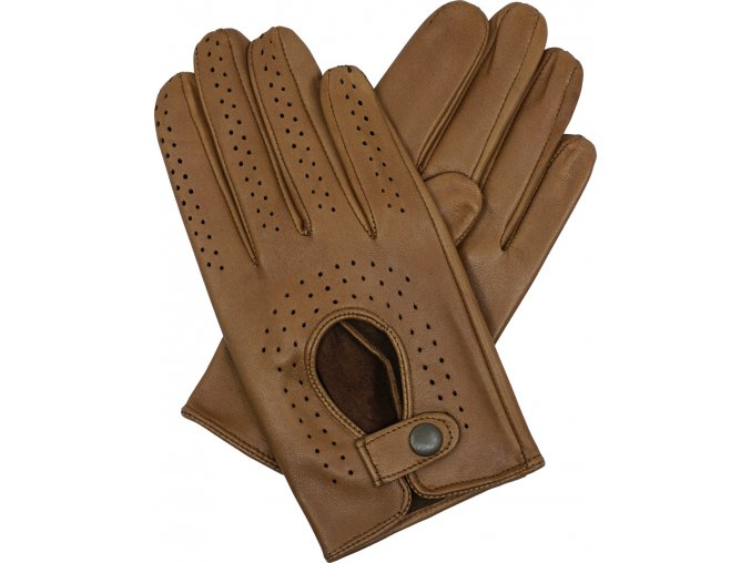 pánské kožené rukavice řidičské koňak