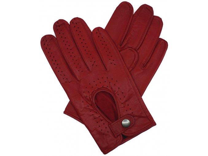 pánské kožené rukavice řidičské červené