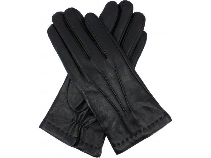 pánské rukavice černé podšívka vlna