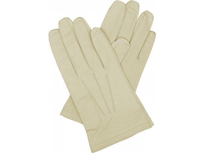 pánské kožené rukavice bezpodšívkové bříza