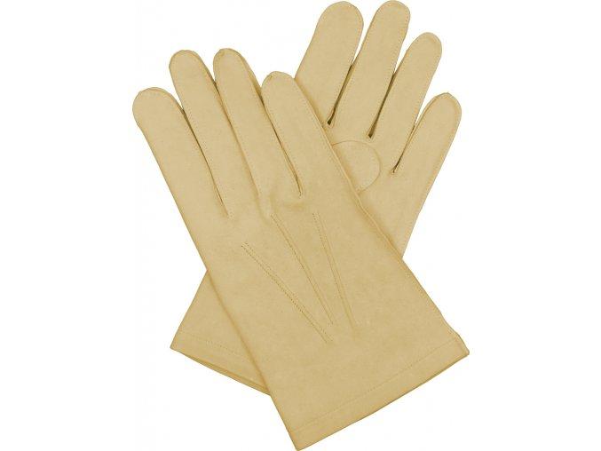 pánské kožené rukavice bezpodšívkové jelenice žluté