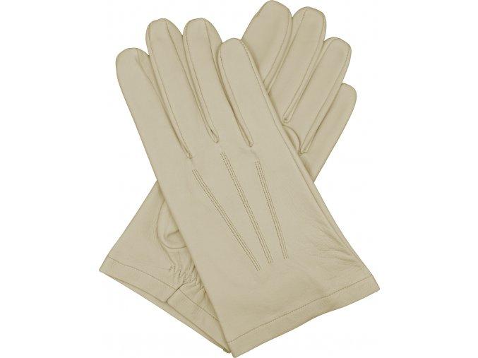 pánské kožené rukavice bezpodšívkové béžová