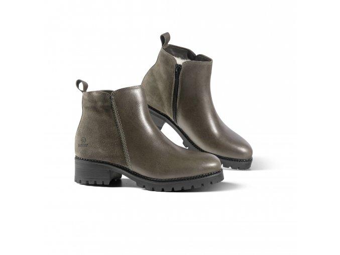 Dámská zimní obuv LE MANS šedá