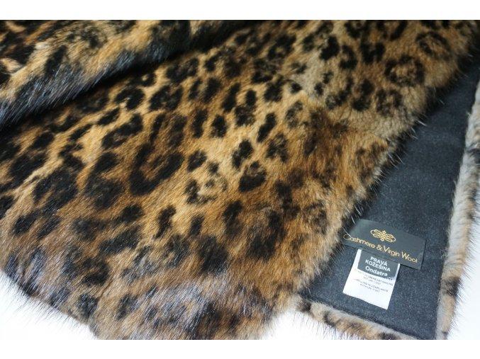 Kožešinová deka bizam potisk 200 x 140 cm