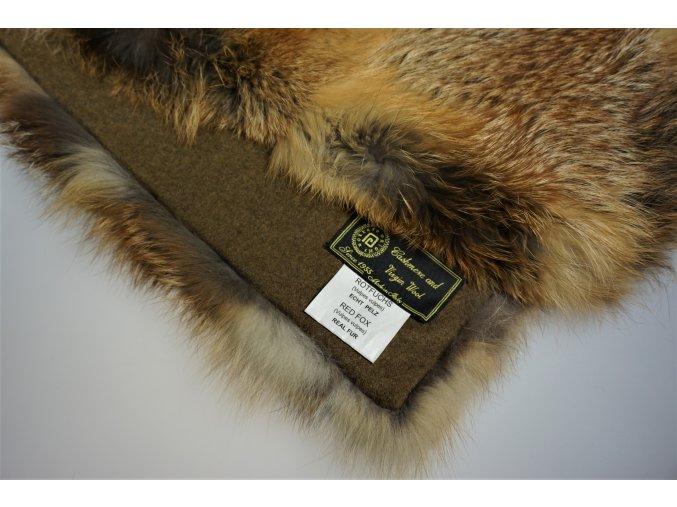 Kožešinová deka liška odkroj 200 x 140 cm