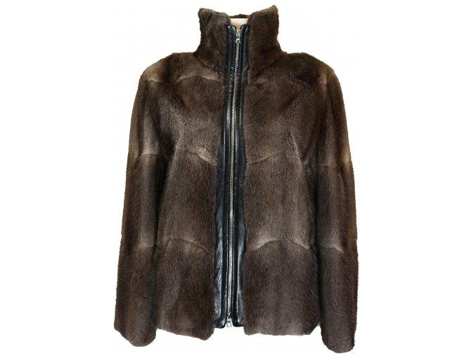 dámská bunda na zip jehnětina