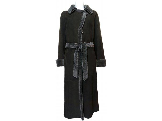 dámský dlouhý kožešinový kabát odlehčená jehnětina1