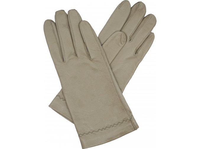 dámské kožené rukavice bezpodšívkové  taupe