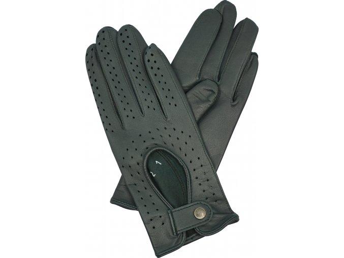 dámské kožené rukavice řidičské zelené