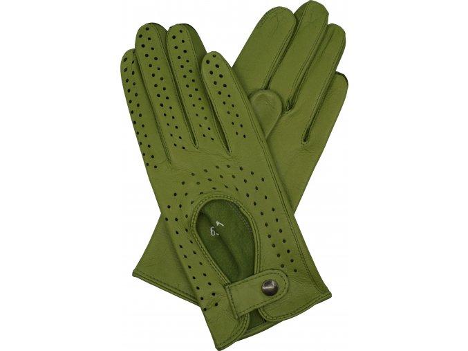 dámské kožené rukavice řidičské zelená