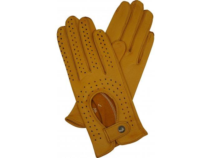dámské kožené rukavice řidičské 6