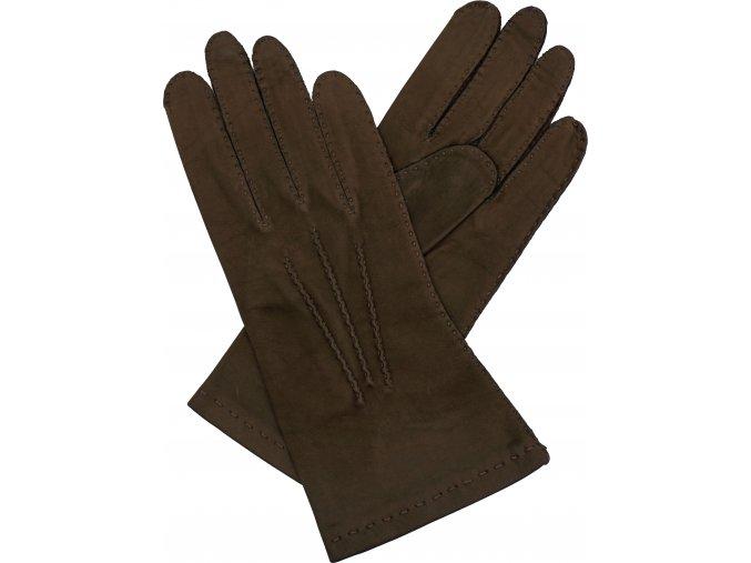 dámské kožené rukavice bezpodšívkové hladké (2)