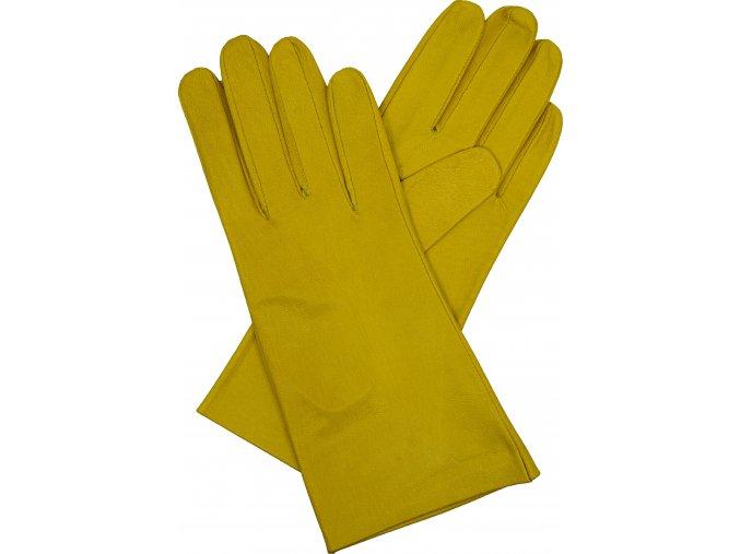 dámské kožené rukavice bezpodšívkové hladké (3)