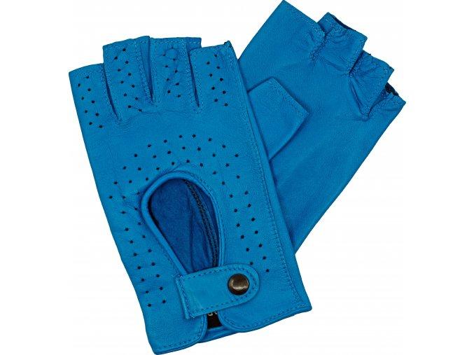 dámské rukavice bezprsté světle modrá