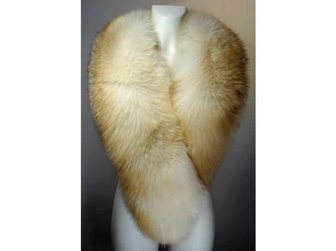 dámský kožešinový šálový límec - liška zlatá
