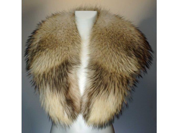 Dámský šálový kožešinový límec - mývalovec
