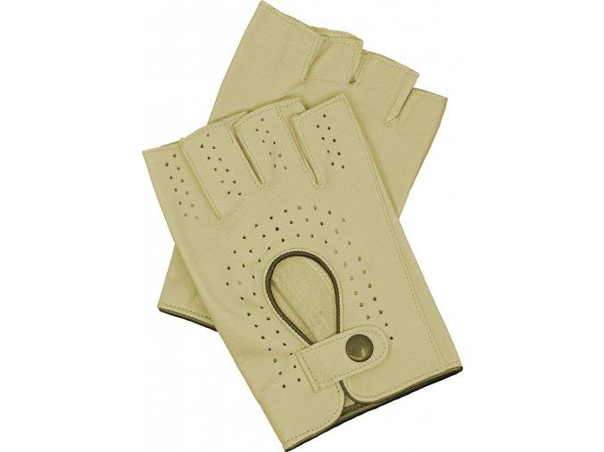 pánské kožené rukavice bezprsté bříza lem