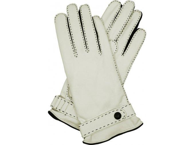 dámské kožené rukavice podšívka UH bílá