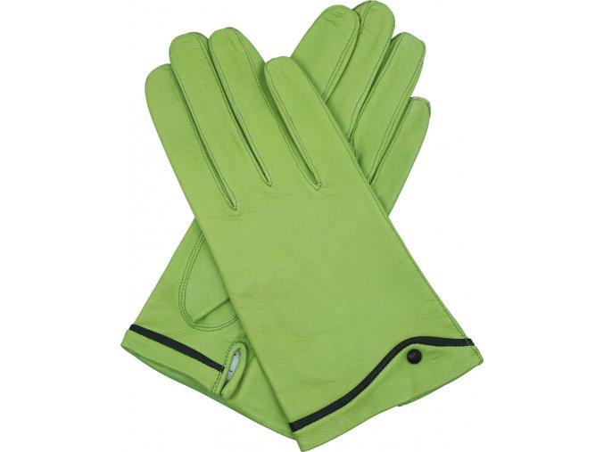 dámské kožené rukavice podšívka UH zelená rozparek