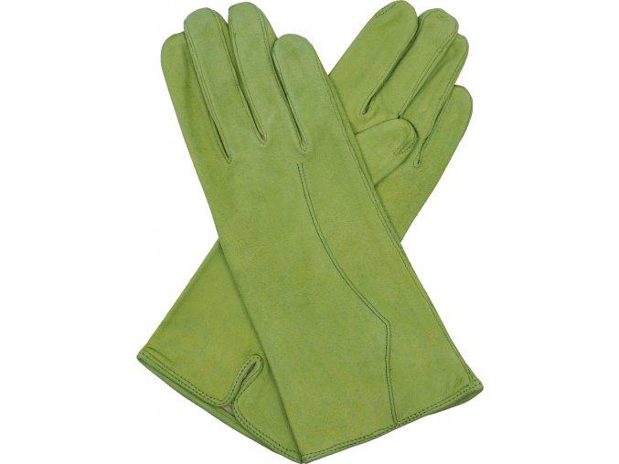dámské kožené rukavice podšívka UH zelená