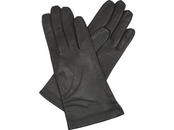 dámské kožené rukavice podšívka UH hnědá