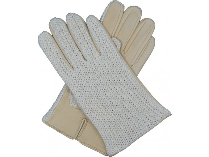 pánské kožené rukavice bezpodšívkové karlovarské žluté