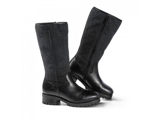 sámské zimní boty SIMBRA černé