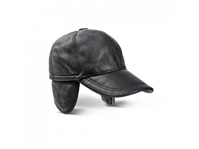 kožešinový čepice s klapkami na uši BRUNO detail