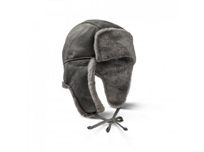 kožešinová ušanka Yukon šedá