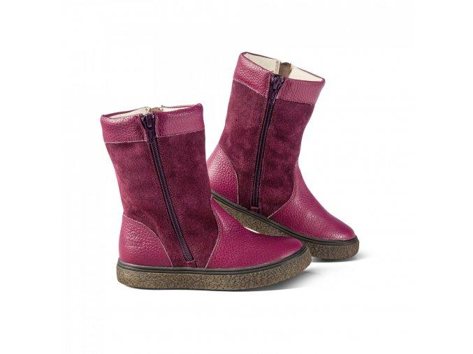 dětská kožešinová obuv DOLOMITI KIDS violett