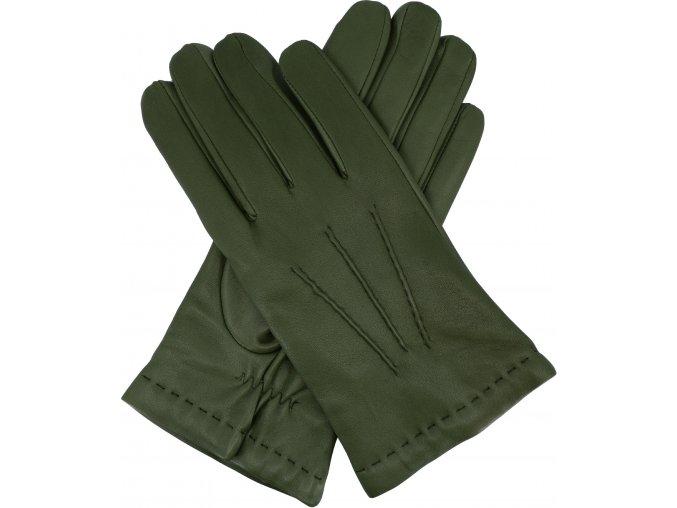 pánské rukavice s podšívkou vlna zelené