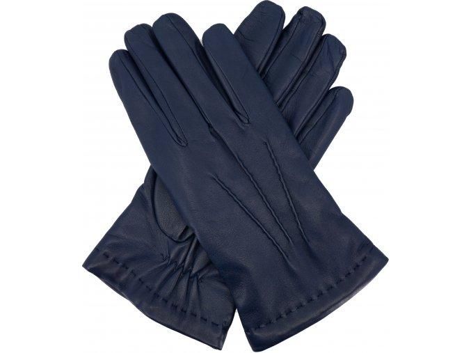 pánské rukavice s podšívkou vlna modré