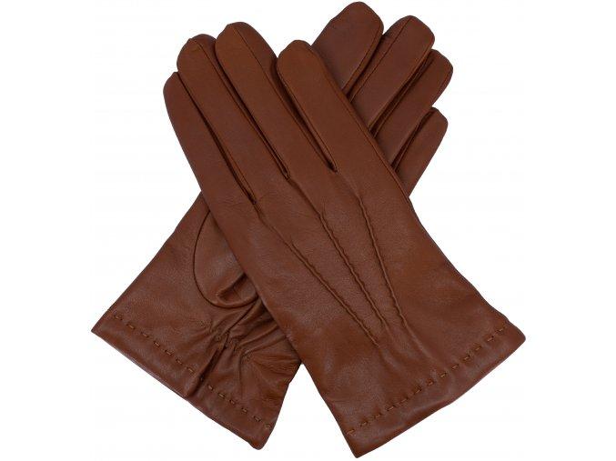 pánské rukavice s podšívkou vlna koňakové