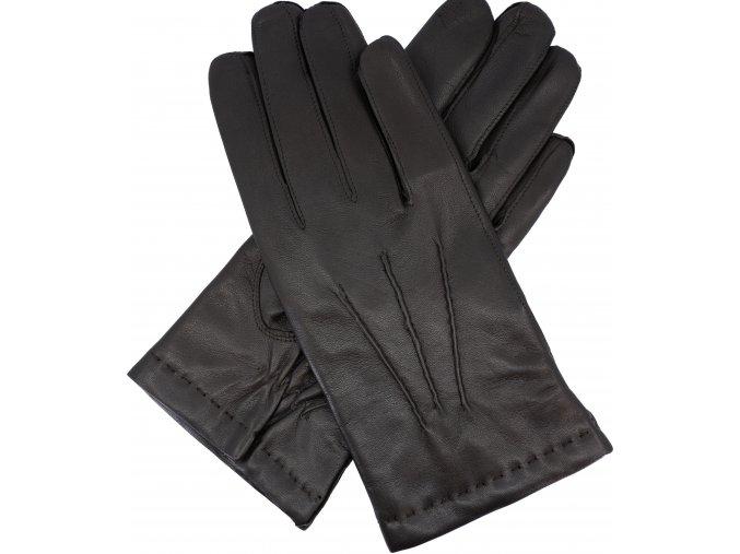 pánské rukavice s podšívkou vlna hnědé
