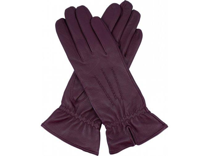 dámské rukavice s podšívkou vlna rozparek ostružinové