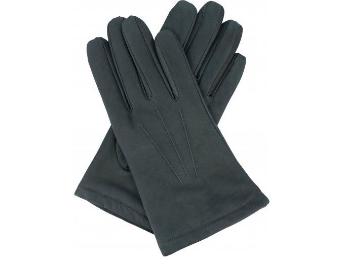 pánské rukavice s podšívkou vlna šedé