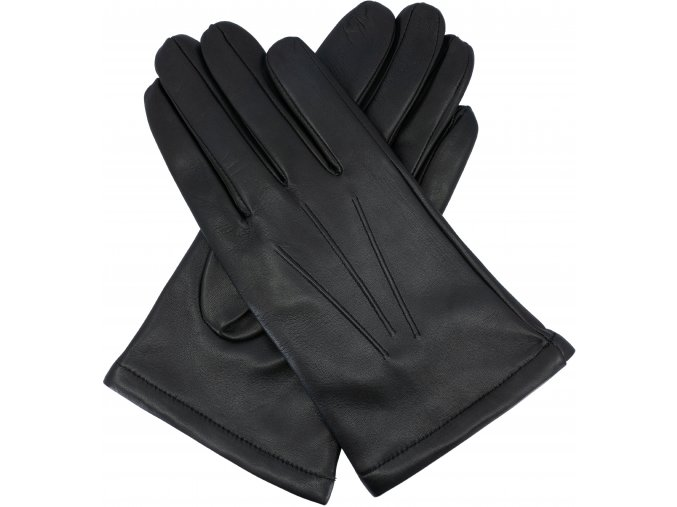 pánské rukavice s podšívkou vlna obyc černé