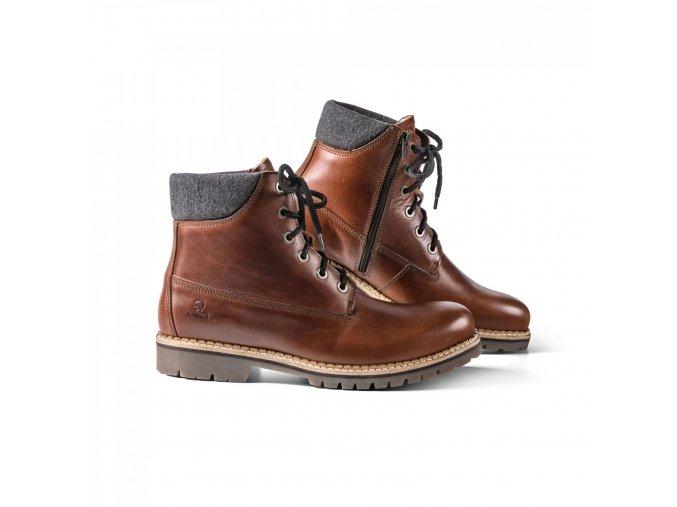 Pánská zimní obuv TIMBA+ kaštanově hnědá