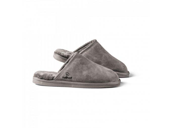 Pánské pantofle KOMFORT šedá
